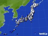 アメダス実況(風向・風速)(2015年02月19日)