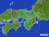 近畿地方のアメダス実況(積雪深)(2015年02月20日)