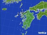 九州地方のアメダス実況(降水量)(2015年02月21日)
