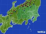 関東・甲信地方のアメダス実況(積雪深)(2015年02月21日)