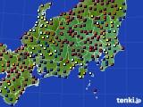 関東・甲信地方のアメダス実況(日照時間)(2015年02月21日)