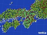 近畿地方のアメダス実況(日照時間)(2015年02月21日)