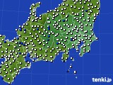 関東・甲信地方のアメダス実況(風向・風速)(2015年02月21日)