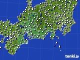 東海地方のアメダス実況(風向・風速)(2015年02月21日)