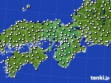 近畿地方のアメダス実況(風向・風速)(2015年02月21日)