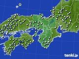 近畿地方のアメダス実況(降水量)(2015年02月22日)