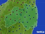 福島県のアメダス実況(日照時間)(2015年02月22日)