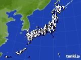 2015年02月23日のアメダス(風向・風速)