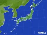 アメダス実況(降水量)(2015年02月25日)