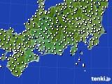東海地方のアメダス実況(風向・風速)(2015年02月25日)