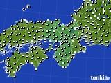 近畿地方のアメダス実況(風向・風速)(2015年02月25日)