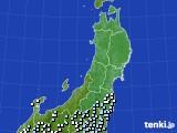 東北地方のアメダス実況(降水量)(2015年02月26日)
