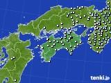 四国地方のアメダス実況(降水量)(2015年02月26日)