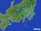 関東・甲信地方のアメダス実況(気温)(2015年02月26日)