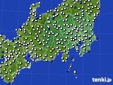関東・甲信地方のアメダス実況(風向・風速)(2015年02月26日)