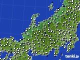 北陸地方のアメダス実況(風向・風速)(2015年02月26日)