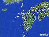 九州地方のアメダス実況(風向・風速)(2015年02月27日)