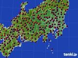 関東・甲信地方のアメダス実況(日照時間)(2015年02月28日)