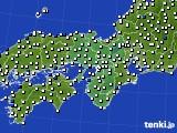 近畿地方のアメダス実況(風向・風速)(2015年02月28日)