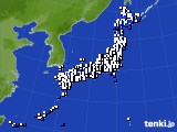 2015年02月28日のアメダス(風向・風速)