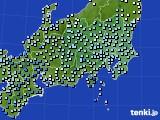 関東・甲信地方のアメダス実況(降水量)(2015年03月01日)
