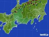 東海地方のアメダス実況(積雪深)(2015年03月01日)