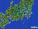 関東・甲信地方のアメダス実況(日照時間)(2015年03月01日)