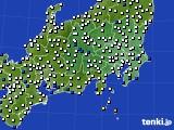 関東・甲信地方のアメダス実況(風向・風速)(2015年03月01日)