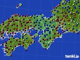 2015年03月08日の近畿地方のアメダス(日照時間)