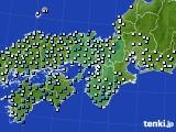 近畿地方のアメダス実況(降水量)(2015年03月09日)