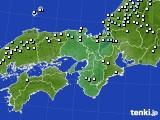近畿地方のアメダス実況(降水量)(2015年03月10日)