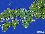 近畿地方のアメダス実況(風向・風速)(2015年03月10日)