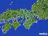 近畿地方のアメダス実況(風向・風速)(2015年03月12日)
