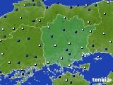岡山県のアメダス実況(風向・風速)(2015年03月12日)