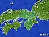 近畿地方のアメダス実況(降水量)(2015年03月13日)