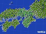 近畿地方のアメダス実況(風向・風速)(2015年03月13日)