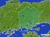 岡山県のアメダス実況(風向・風速)(2015年03月13日)
