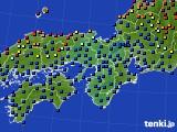 2015年03月15日の近畿地方のアメダス(日照時間)