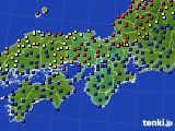 2015年03月16日の近畿地方のアメダス(日照時間)
