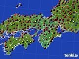 2015年03月21日の近畿地方のアメダス(日照時間)