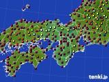 2015年03月22日の近畿地方のアメダス(日照時間)