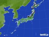 アメダス実況(降水量)(2015年03月23日)