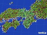 2015年03月23日の近畿地方のアメダス(日照時間)