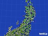 2015年03月24日の東北地方のアメダス(風向・風速)