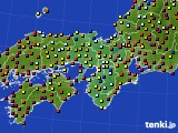 2015年03月25日の近畿地方のアメダス(日照時間)