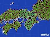 2015年03月27日の近畿地方のアメダス(日照時間)