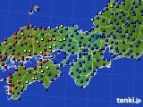 2015年03月29日の近畿地方のアメダス(日照時間)