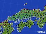 2015年04月09日の中国地方のアメダス(日照時間)