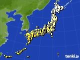 アメダス実況(気温)(2015年04月25日)