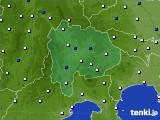 山梨県のアメダス実況(風向・風速)(2015年04月25日)